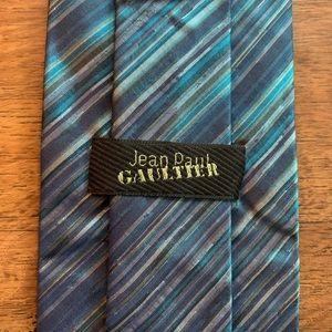 Jean Paul Gaultier Brilliant Blue Striped Tie